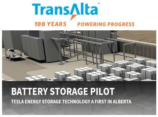 TransAlta Tesla Energy Storage Project- Alberta