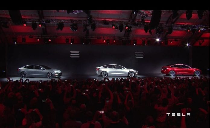Tesla motors tsla shares soar on strong pre orders for model for How to buy stock in tesla motors