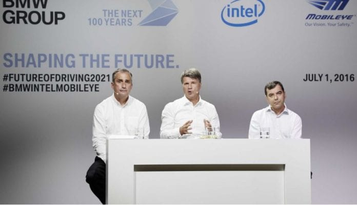 Mobileye Share Price >> BMW Partners with Intel, Mobileye to Produce Self-Driving ...