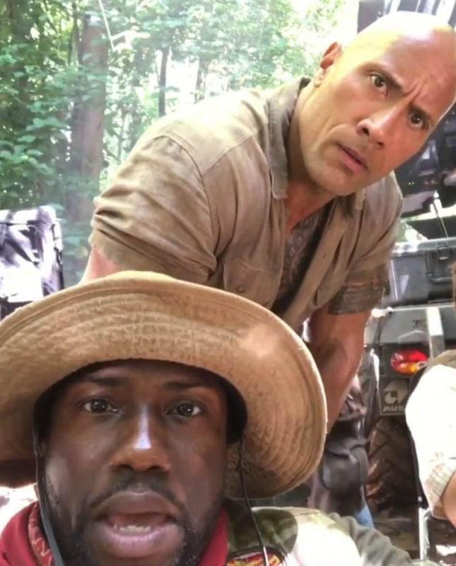Kevin Hart Posts A Video To Instagram About Problems On Jumanji Set - Funny