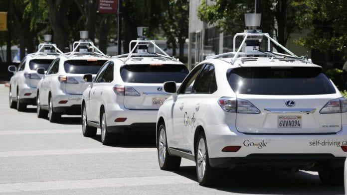A Google self-driving auto crashed in Mt. View today