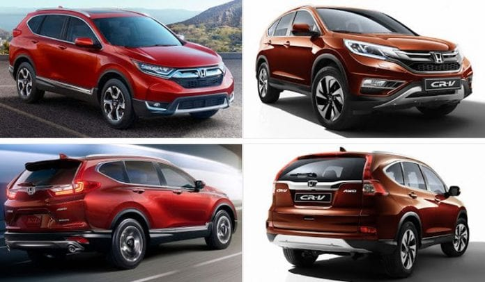 2017 honda cr v vs 2016 honda cr v differences between