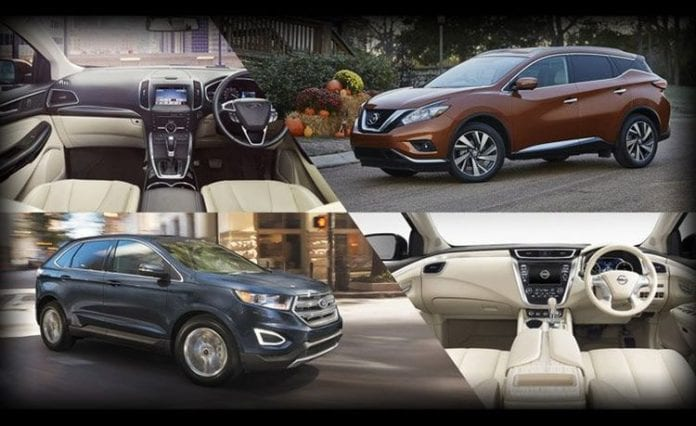 Ford Edge Vs Nissan Murano Battle Of The Crossovers