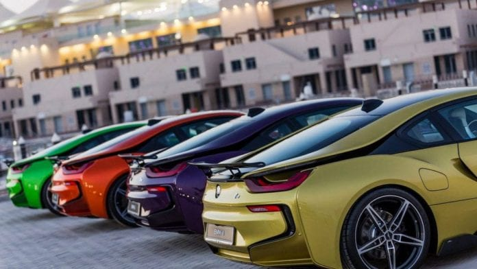 Bmw I8s Shown In Different Colors