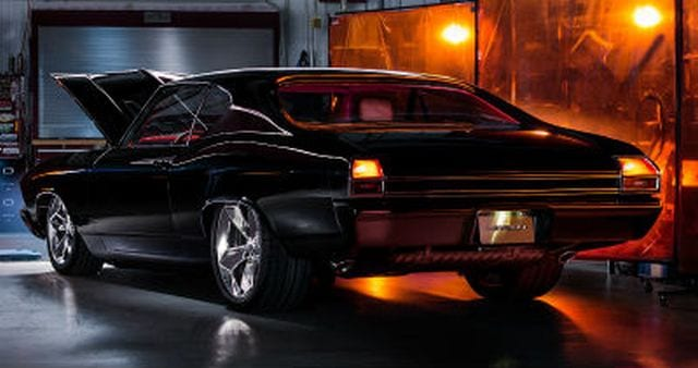 chevrolet chevelle slammer concept brings together present day performance and speedster design. Black Bedroom Furniture Sets. Home Design Ideas