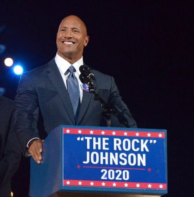 Dwayne Johnson Possibly Running for President in 2020