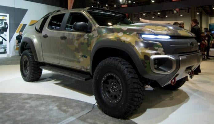 Hydrogen powered Chevrolet Colorado ready for military ...