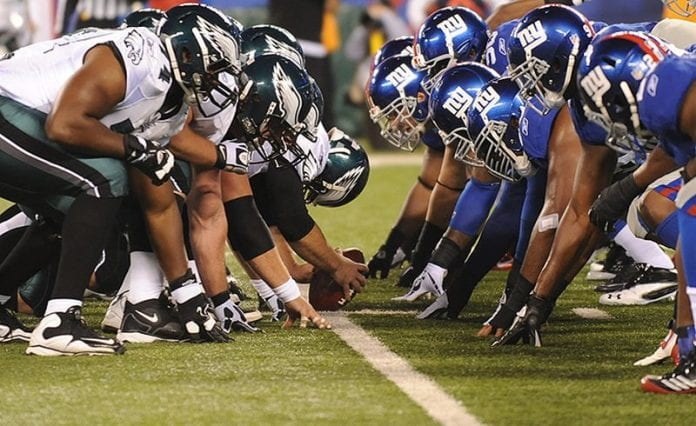 ncaa football betting odds giants vs eagles scores