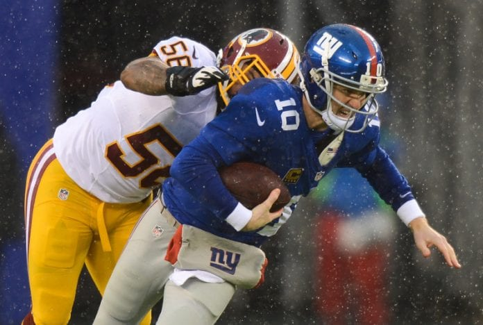 The sports xchange) - the visiting new york giants, who had already clinched their wild card playoff berth