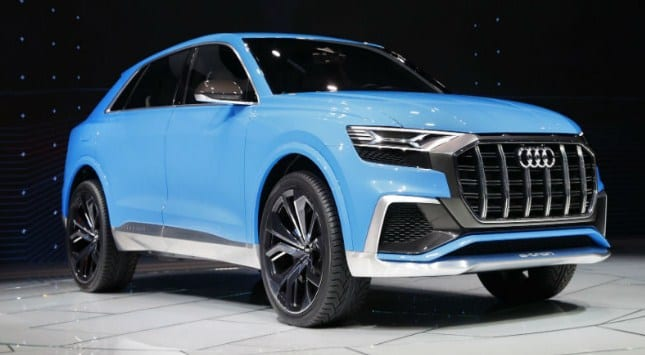 2018 audi q8 concept introduced production scheduled for 2018. Black Bedroom Furniture Sets. Home Design Ideas