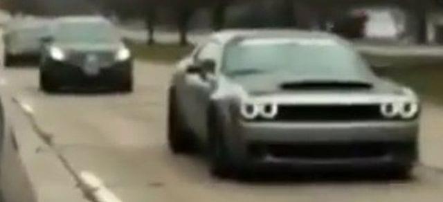 2018 Dodge Challenger SRT Demon Seen In Detroit Streets
