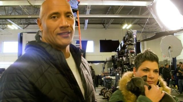 Dwayne Johnson Interrupted by Puppies