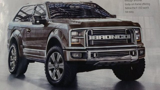 2020 Ford Bronco Will Sport Solid Front and Rear Axle