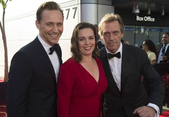 Tom Hiddleston Olivia Colman and Hugh Laurie 640x445