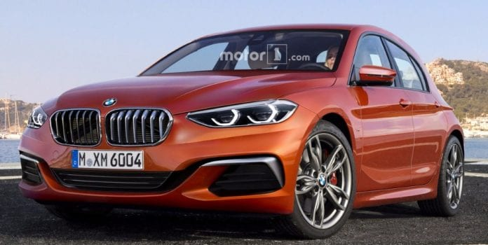 2019 bmw 1 series render shows its possible fwd future. Black Bedroom Furniture Sets. Home Design Ideas