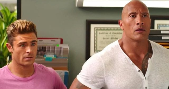 Dwayne Johnson and Zac Efron in a Super Bowl Commercial 640x340