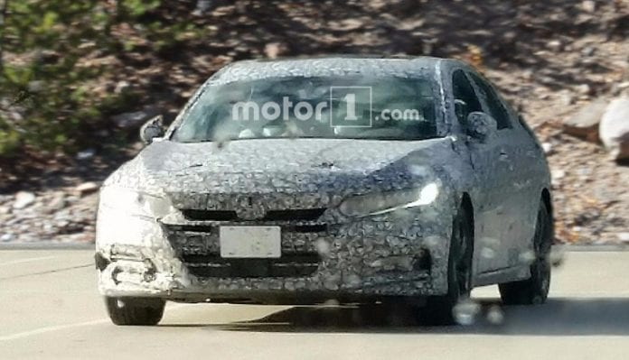 New 2018 Honda Accord spied in new camo!