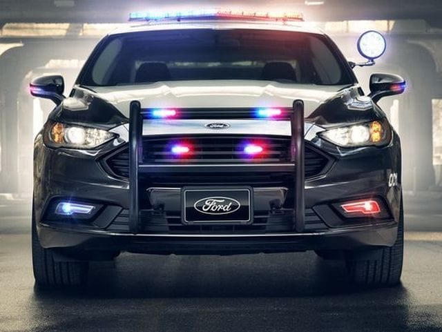 ford 39 s fusion is a first ever hybrid police responder. Black Bedroom Furniture Sets. Home Design Ideas