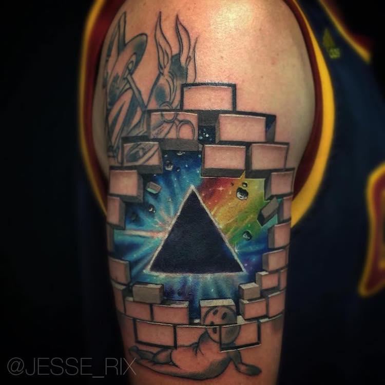 illusion optical tattoos jesse rix tattoo dimension another illusions 3d geometric pink floyd eye beneath mind instagram blowing artist dark
