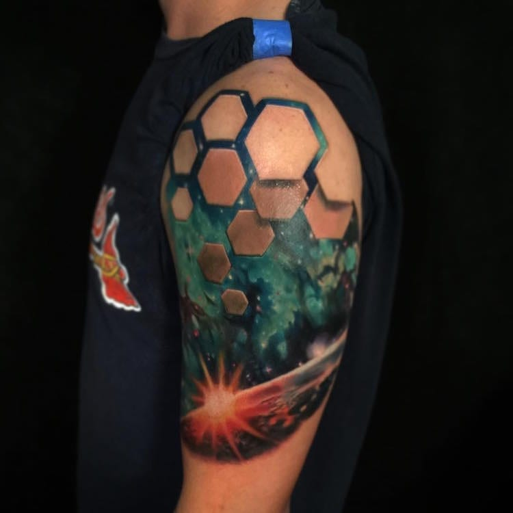 rix jesse illusion optical tattoo tattoos 3d space skin cool twice designs under beneath eye tatto another awesome artist shoulder