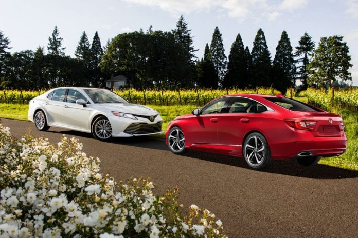 2018 honda accord vs 2018 toyota camry the clash of samurai