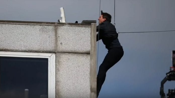 VIDEO: Tom Cruise slamming into brick wall during failed action stunt