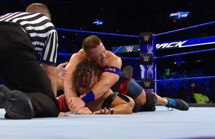 John Cena vs. Baron Corbin made official