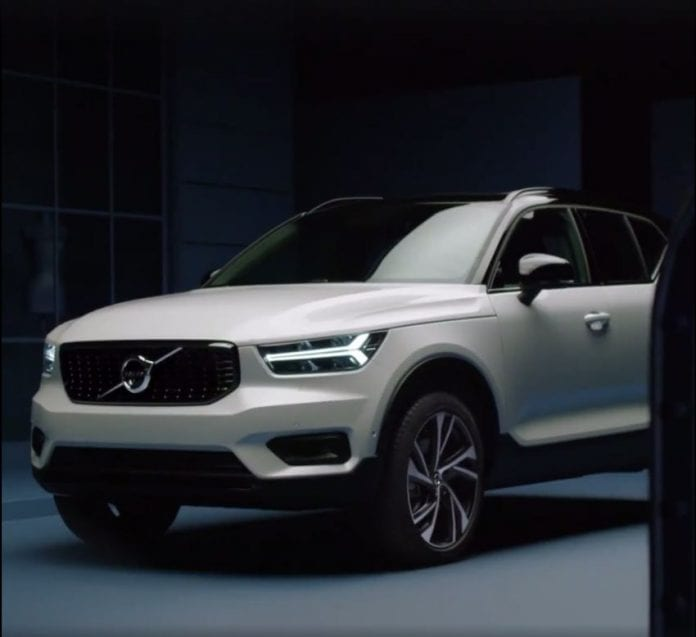 2018 volvo xc40 suv revealed unintentionally. Black Bedroom Furniture Sets. Home Design Ideas