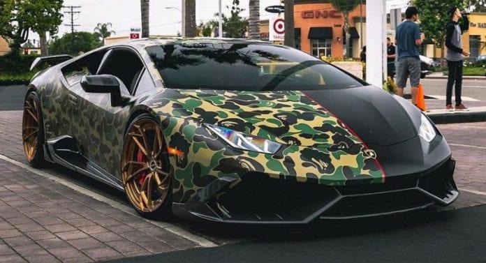 Lamborghini Huracan Half Camo Half Black