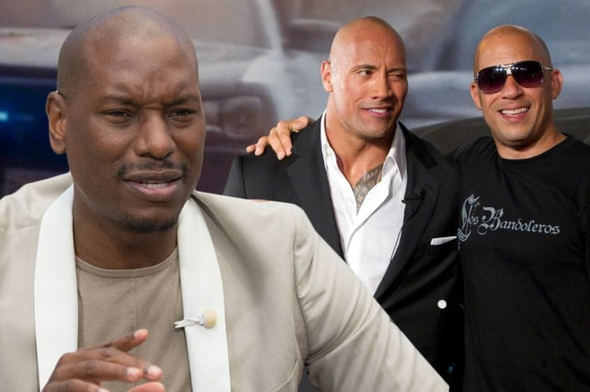 Dwayne Johnson and Tyrese Gibson Feud 850x565