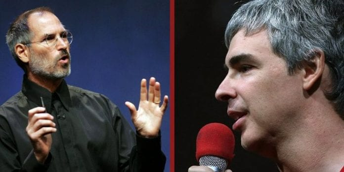 Larry Page and Steve Jobs