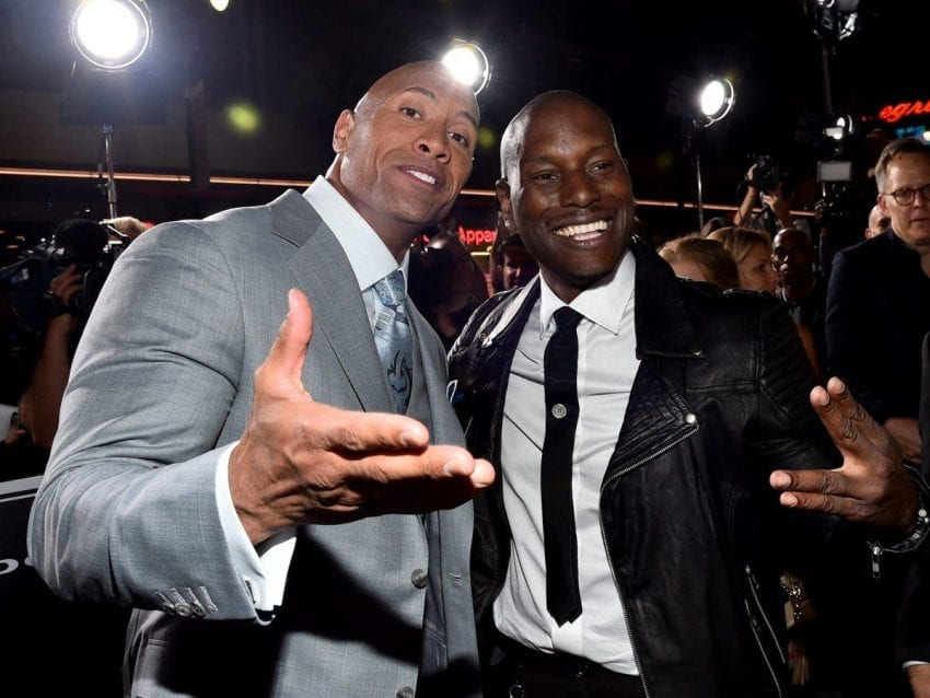 "Tyrese Gibson Dwayne ""The Rock"" Johnson 850x638"