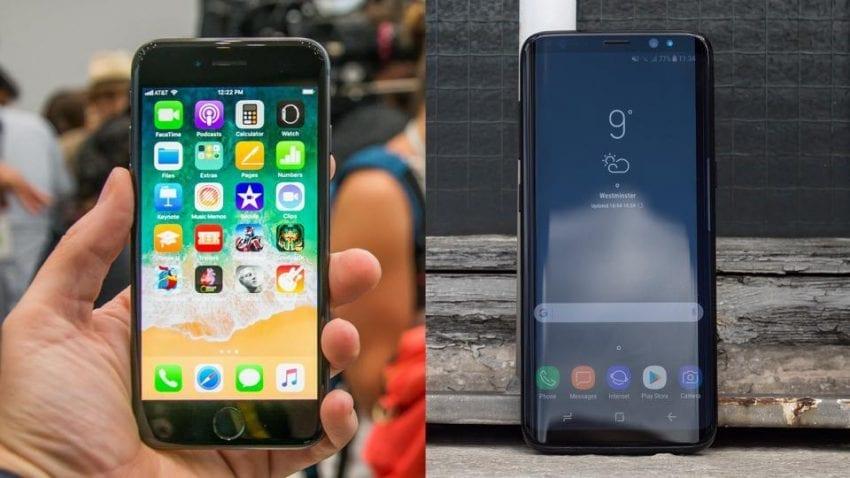 apple iphone 8 vs samsung galaxy s8 850x478