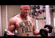Dwayne Johnson workout 218x150