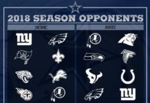 2018 Dallas Cowboys Opponents 218x150