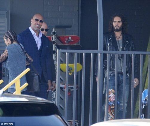 The Rock and Russell Brand 502x420