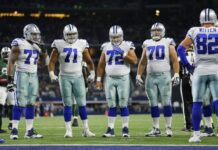 Cowboys Offensive Line 218x150
