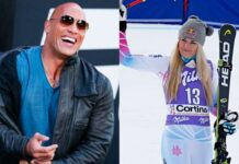 The Rock and Lindsay Vonn 218x150