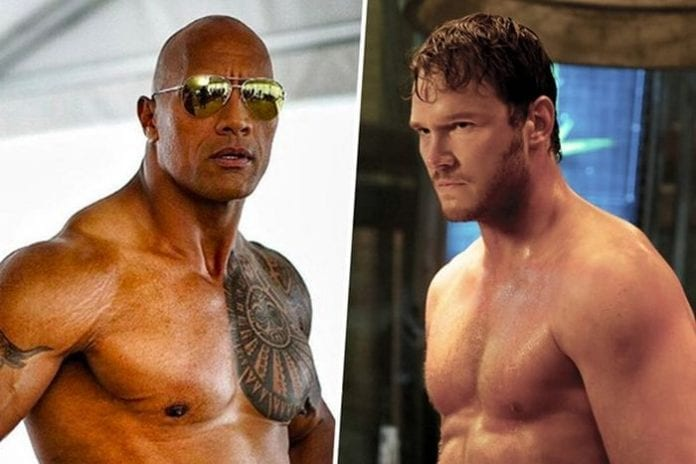Chris Pratt vs. The Rock 696x464