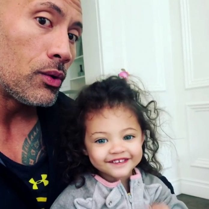 Dwayne and doughter 696x696