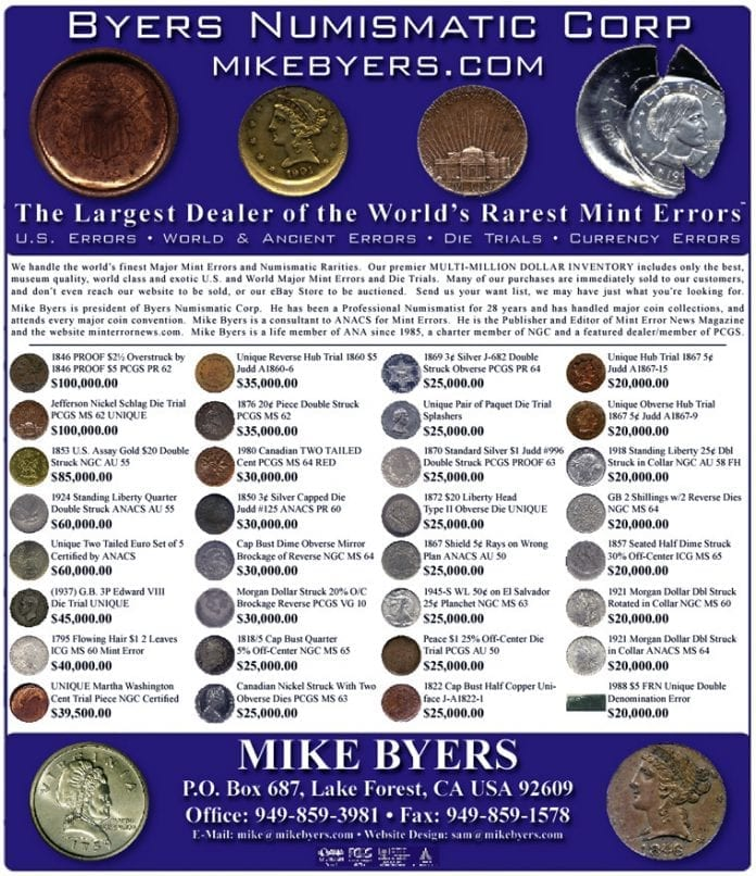 Mike Byers - Byers Numismatic Corp
