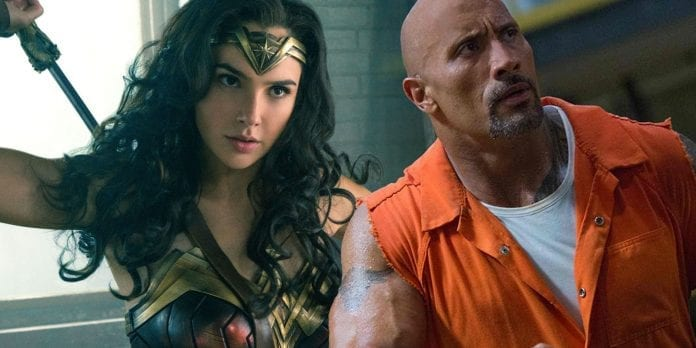 Gal Gadot and Dwayne Johnson  696x348