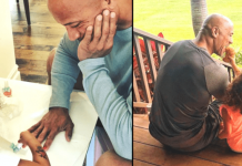Dwayne Johnson once again shows he's the best dad 218x150