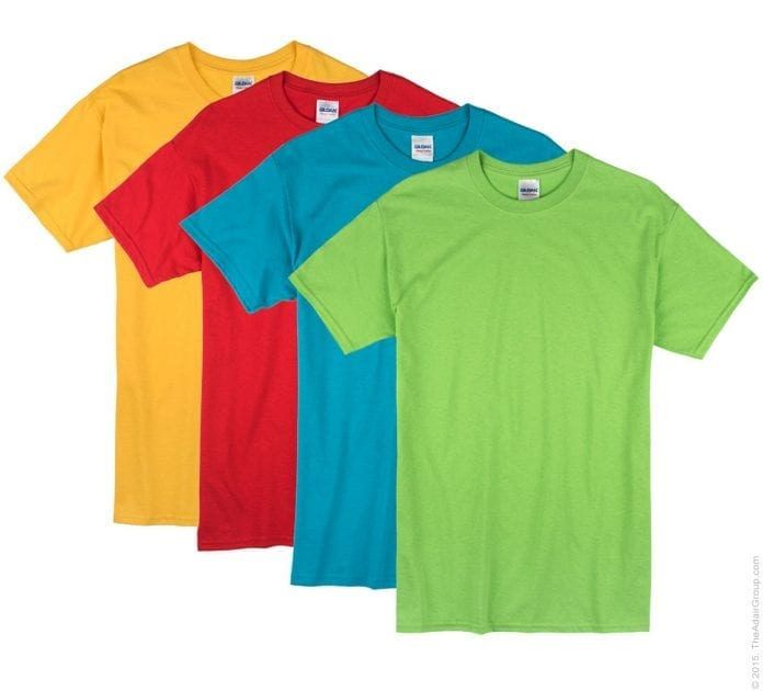 Assorted Bright T Shirts large 696x630