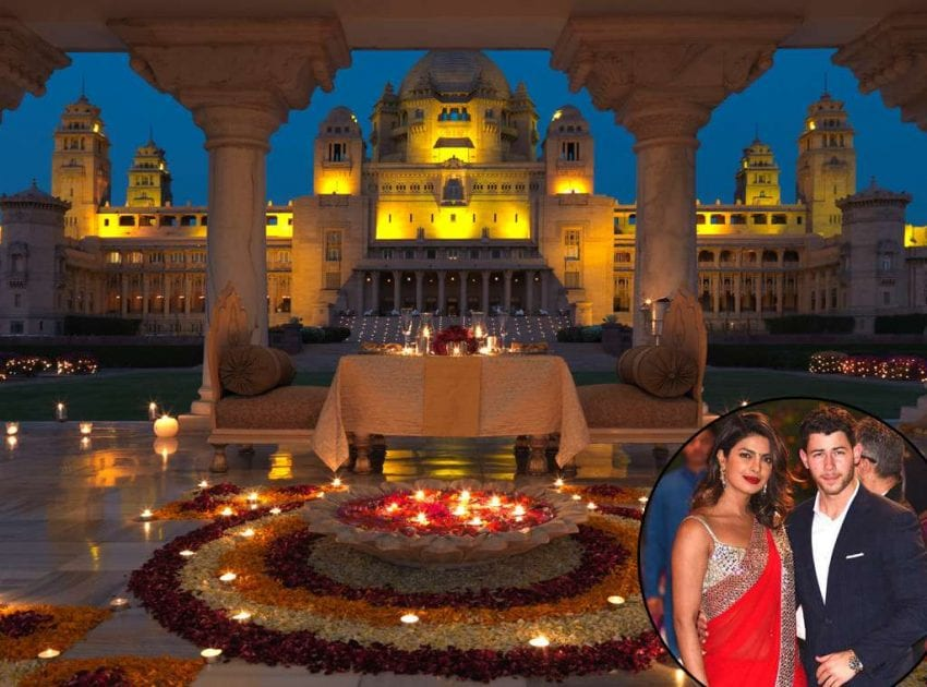 Pryanka and Nick wedding palace 850x630