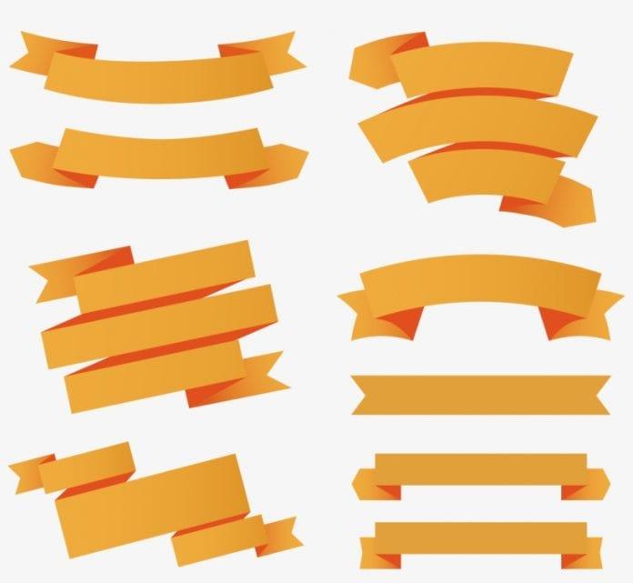 paper ribbon web banner