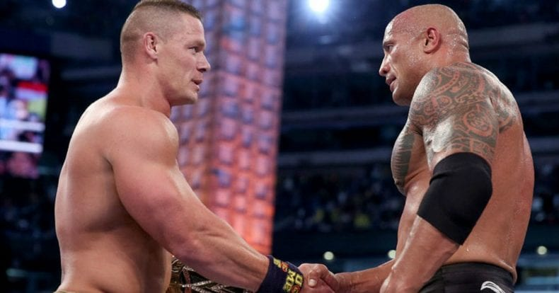 John Cena and Dwayne Johnson handles 790x414