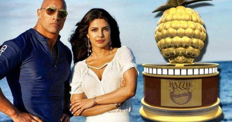 Razzies Baywatch Movie Dwayne Johnson 790x416
