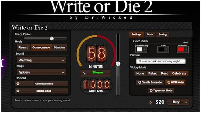Write or Die Experimental Writing App