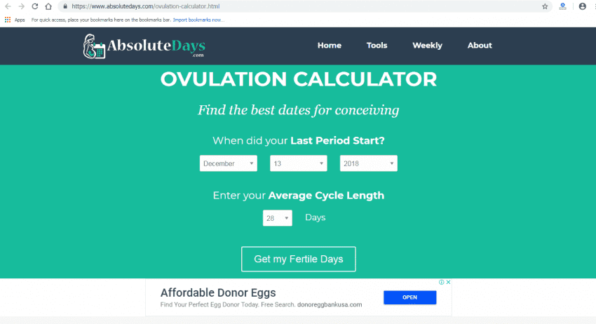 ovulation calculator 1 850x462
